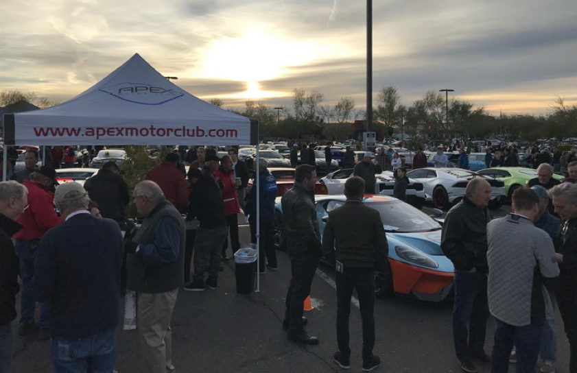 cars and coffee, car event, scottsdale, arizona, apex motor club